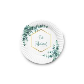 Eid Mubarak bord Eucalyptus(set van 6)