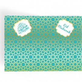Eid Mubarak Placemat Groen/goud