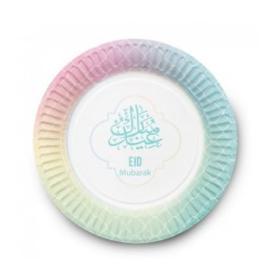 Eid Mubarak bord Pastel (set van 6)