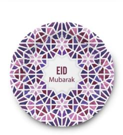 Eid Mubarak bord Mozaïek (set van 6)
