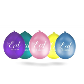 Eid Mubarak ballonnen gekleurd(10 stuks)