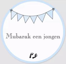 Stickers Mubarak een jongen (vel van 6)