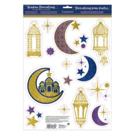 Ramadan/Eid raamstickers
