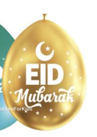 Eid mubarak ballonnen goud (10 stuks)