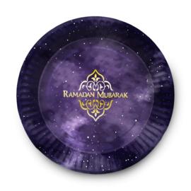 Ramadan Mubarak bord (6stuks)