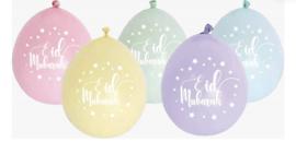 Eid mubarak rainbow ballonnen (10 stuks)