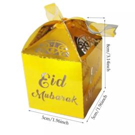 Eid mubarak doosje goud 2