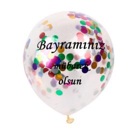 Ballonnen Bayraminiz mubarek olsun confetti (5 stuks)