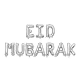 Eid Mubarak folie ballon zilver