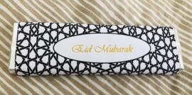 Eid Mubarak chocolade reep zwart/goud