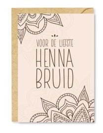 Wenskaart Henna bruid