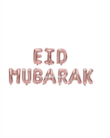 Eid Mubarak folie ballon rosé