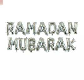 Ramadan Mubarak folie ballon zilver