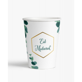 Eid Mubarak beker Eucalyptus (set van 6)