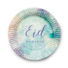 Eid Mubarak bord Watercolour (set van 6)