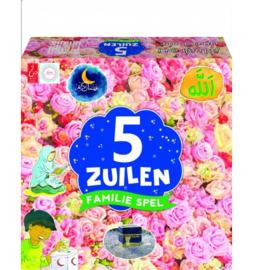 5 zuilen spel bloemen