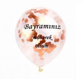 Ballonnen Bayraminiz mubarek olsun rosé confetti (5 stuks)