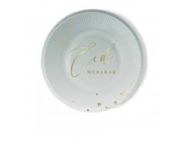 Eid Mubarak borden mintgroen (6 stuks)