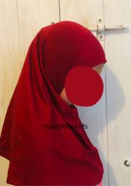 1 delige stretch kinder hoofddoek rood