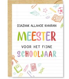 Wenskaart Djazaaki Allahoe khairan Meester