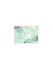 EId Mubarak placemats Watercolour (6 stuks papier)