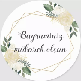 Bayraminiz Mubarek Olsun stickers (vel van 6)