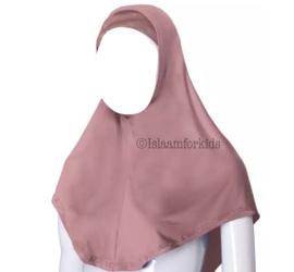 2 delige stretch kinder hoofddoek poeder roze