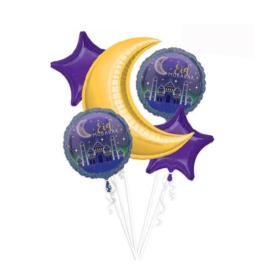 Eid mubarak folie ballonnen (set van 5)