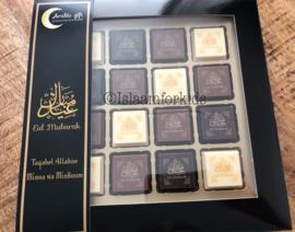 Eid mubarak pralines (doos van 16)