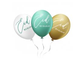 Eid Mubarak ballonnen mintgroen (6 stuks)