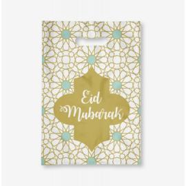 Eid uitdeelzakjes goud/mint ( 6 stuks)