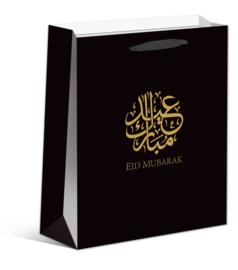 Eid Mubarak cadeau tas zwart