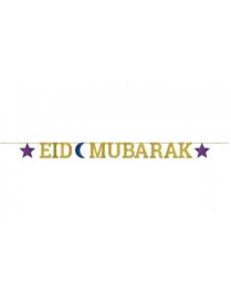 Eid Mubarak slinger glitter