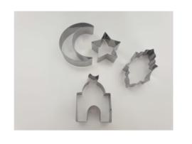 Koekuitsteker set maan/ster/lampion/moskee