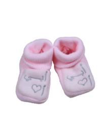 I love Abie baby slofjes roze