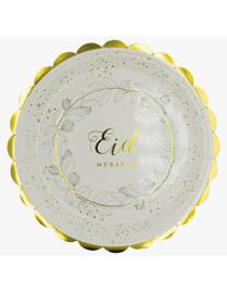 Eid mubarak borden Leaf (6 stuks)