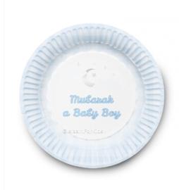 Geboorte bordjes jongen (6stuks)