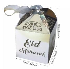 Eid mubarak doosje zilver 2