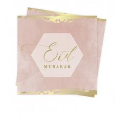 Eid Mubarak servetten roze
