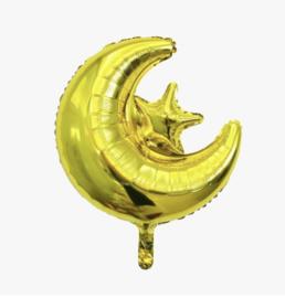 Maan - Ster ballon Goud