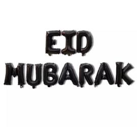 Eid mubarak folie ballon zwart