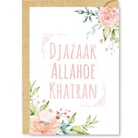 Wenskaart Djazaak Allahoe khairan