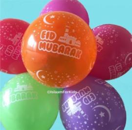 Eid Mubarak ballonnen gemixt (10stuks)