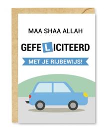 Wenskaart rijbewijs