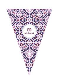 Eid Mubarak slinger Mozaïek