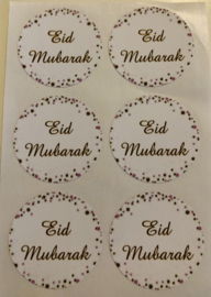 Eid Mubarak stickers stippen (vel van 6)