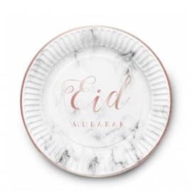 Eid Mubarak bord Marmer (set van 6)