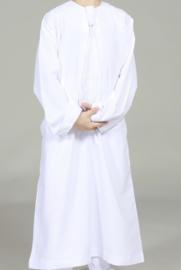 Qamis lange mouw wit