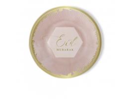 Eid Mubarak borden roze (6 stuks)