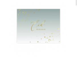 Eid mubarak placemat mintgroen (6 stuks papier)